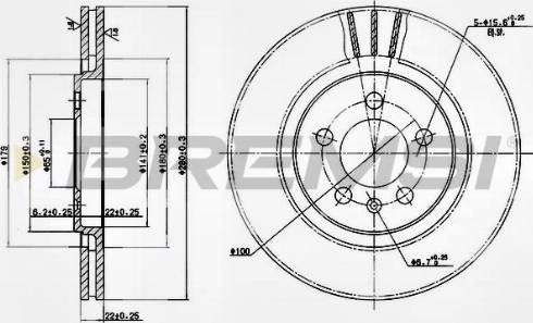 Bremsi CD6332V - Bremžu diski interparts.lv