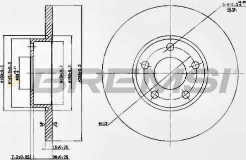 Bremsi CD6324S - Bremžu diski interparts.lv