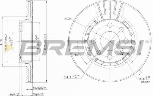 Bremsi CD6328V - Bremžu diski interparts.lv