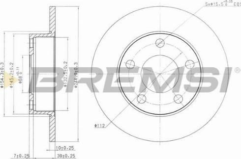 Bremsi CD6323S - Bremžu diski interparts.lv