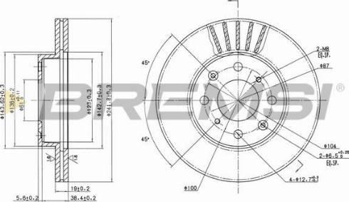 Bremsi CD6377V - Bremžu diski interparts.lv