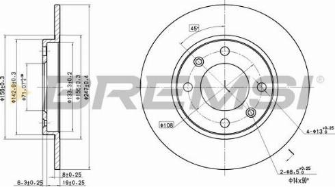 Bremsi CD6244S - Bremžu diski interparts.lv