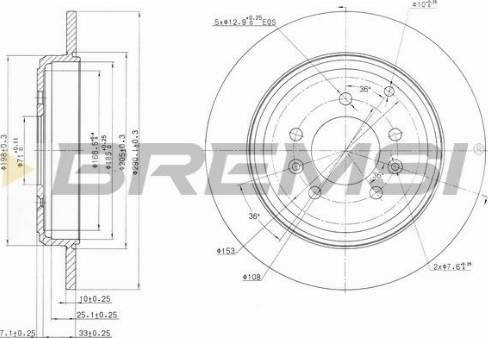 Bremsi CD6245S - Bremžu diski interparts.lv