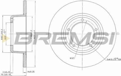 Bremsi CD6246S - Bremžu diski interparts.lv