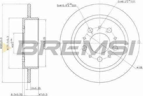 Bremsi CD6241S - Bremžu diski interparts.lv