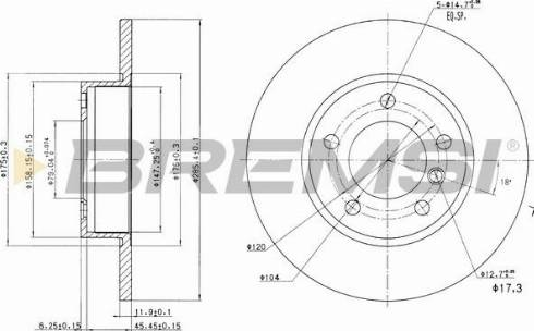 Bremsi CD6248S - Bremžu diski interparts.lv