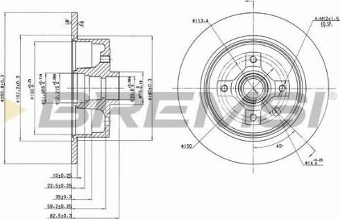 Bremsi CD6242S - Bremžu diski interparts.lv