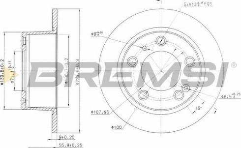 Bremsi CD6247S - Bremžu diski interparts.lv