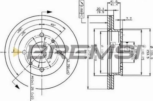 Bremsi CD6259V - Bremžu diski interparts.lv