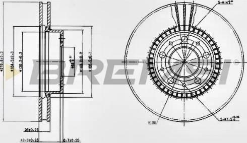 Bremsi CD6255V - Bremžu diski interparts.lv
