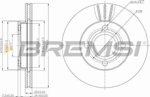 Bremsi CD6256V - Bremžu diski interparts.lv