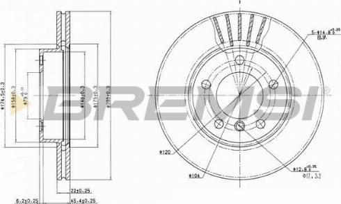 Bremsi CD6258V - Bremžu diski interparts.lv