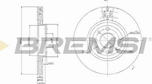 Bremsi CD6252V - Bremžu diski interparts.lv