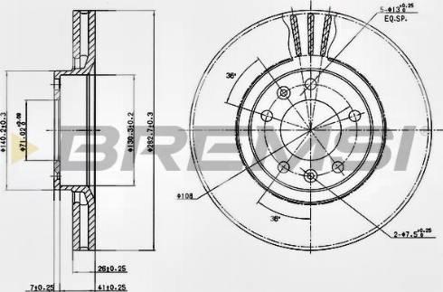 Bremsi CD6264V - Bremžu diski interparts.lv