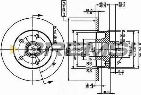 Bremsi CD6266S - Bremžu diski interparts.lv