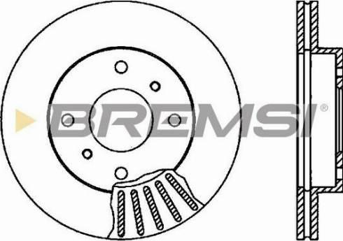 Bremsi CD6260V - Bremžu diski interparts.lv