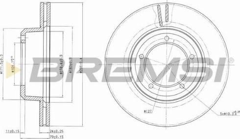 Bremsi CD6262V - Bremžu diski interparts.lv