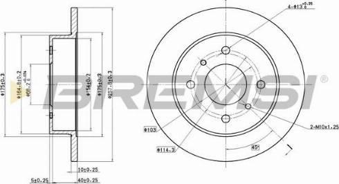 Bremsi CD6267S - Bremžu diski interparts.lv