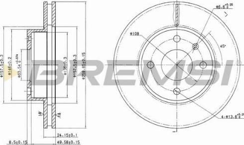 Bremsi CD6209V - Bremžu diski interparts.lv