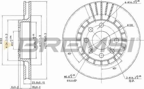Bremsi CD6206V - Bremžu diski interparts.lv