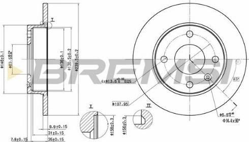 Bremsi CD6208S - Bremžu diski interparts.lv