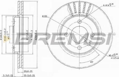 Bremsi CD6207V - Bremžu diski interparts.lv