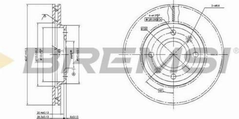 Bremsi CD6214V - Bremžu diski interparts.lv