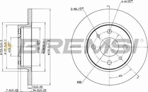 Bremsi CD6215S - Bremžu diski interparts.lv