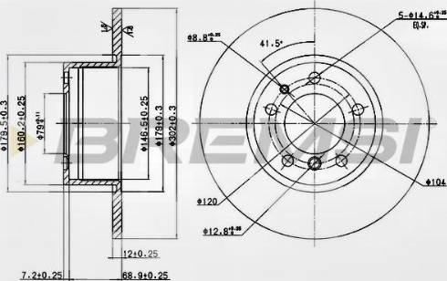 Bremsi CD6210S - Bremžu diski interparts.lv