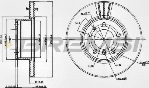 Bremsi CD6211V - Bremžu diski interparts.lv