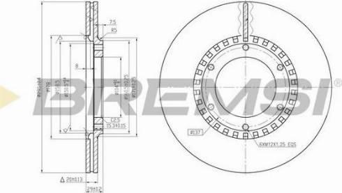 Bremsi CD6218V - Bremžu diski interparts.lv