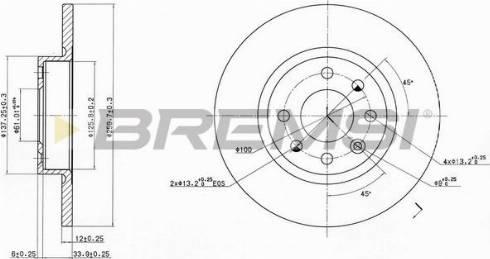 Bremsi CD6213S - Bremžu diski interparts.lv