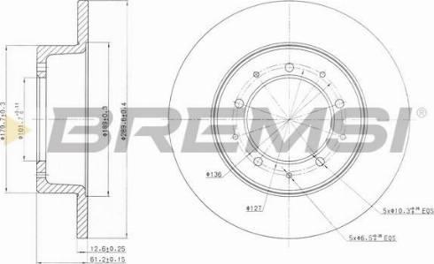 Bremsi CD6283S - Bremžu diski interparts.lv