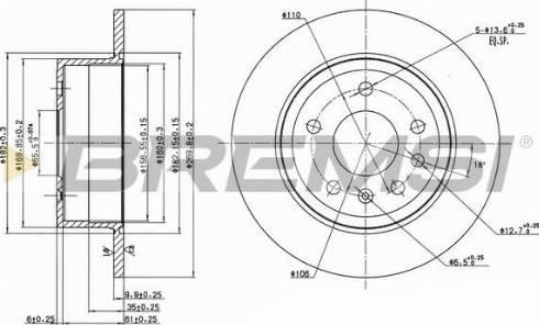 Bremsi CD6239S - Bremžu diski interparts.lv
