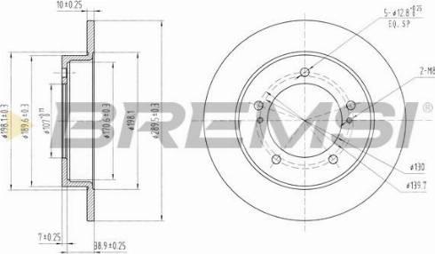 Bremsi CD6233S - Bremžu diski interparts.lv