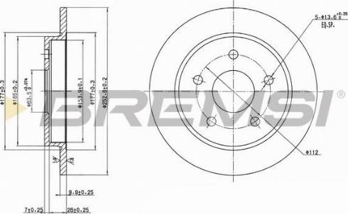 Bremsi CD6232S - Bremžu diski interparts.lv