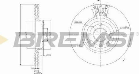 Bremsi CD6220V - Bremžu diski interparts.lv