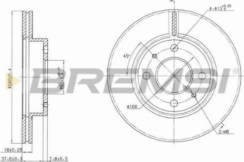 Bremsi CD6227V - Bremžu diski interparts.lv
