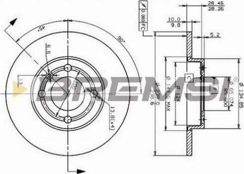 Bremsi CD6795S - Bremžu diski interparts.lv