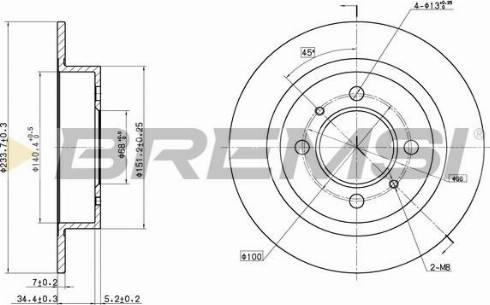 Bremsi CD6790S - Bremžu diski interparts.lv