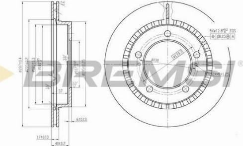 Bremsi CD6746V - Bremžu diski interparts.lv