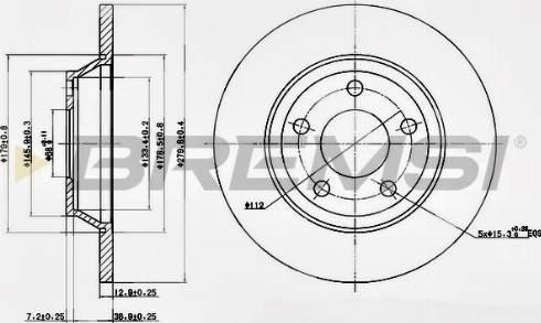 Bremsi CD6759S - Bremžu diski interparts.lv