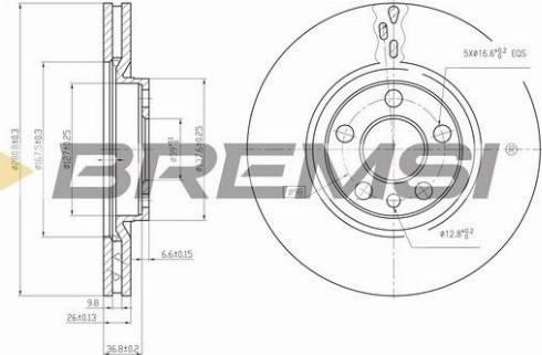 Bremsi CD6760V - Bremžu diski interparts.lv
