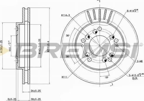 Bremsi CD6761V - Bremžu diski interparts.lv
