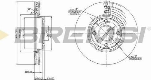 Bremsi CD6762V - Bremžu diski interparts.lv
