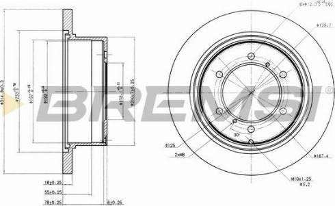Bremsi CD6715S - Bremžu diski interparts.lv