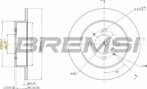 Bremsi CD6717S - Bremžu diski interparts.lv