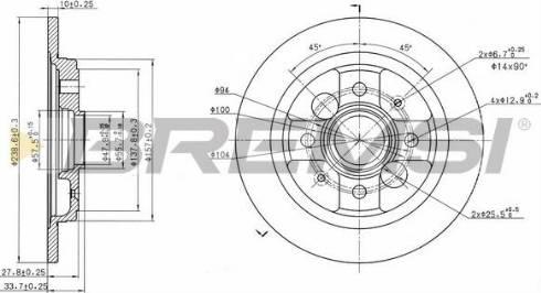 Bremsi CD6785S - Bremžu diski interparts.lv
