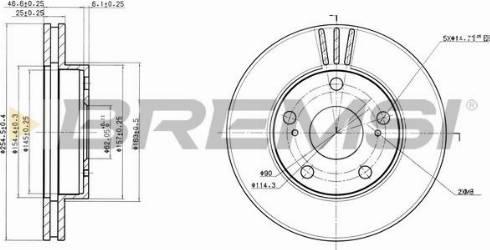 Bremsi CD6780V - Bremžu diski interparts.lv