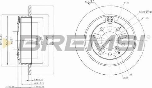 Bremsi CD6739S - Bremžu diski interparts.lv